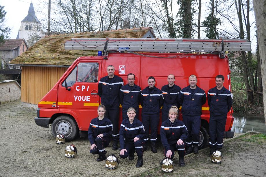 Equipe des sapeurs pompiers de Voué